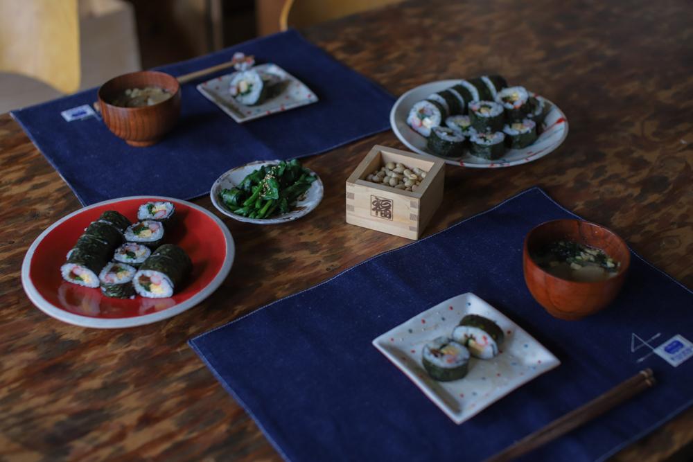 じばさんらんちき社員で食堂 -丹文窯の器で恵方巻-_e0295731_11011812.jpg