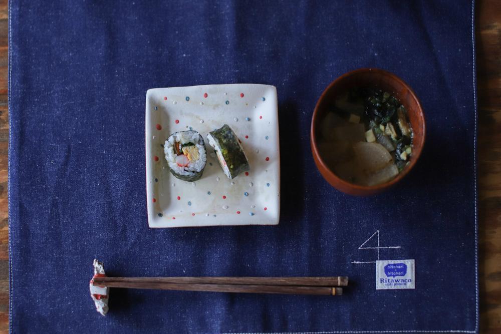じばさんらんちき社員で食堂 -丹文窯の器で恵方巻-_e0295731_11012910.jpg