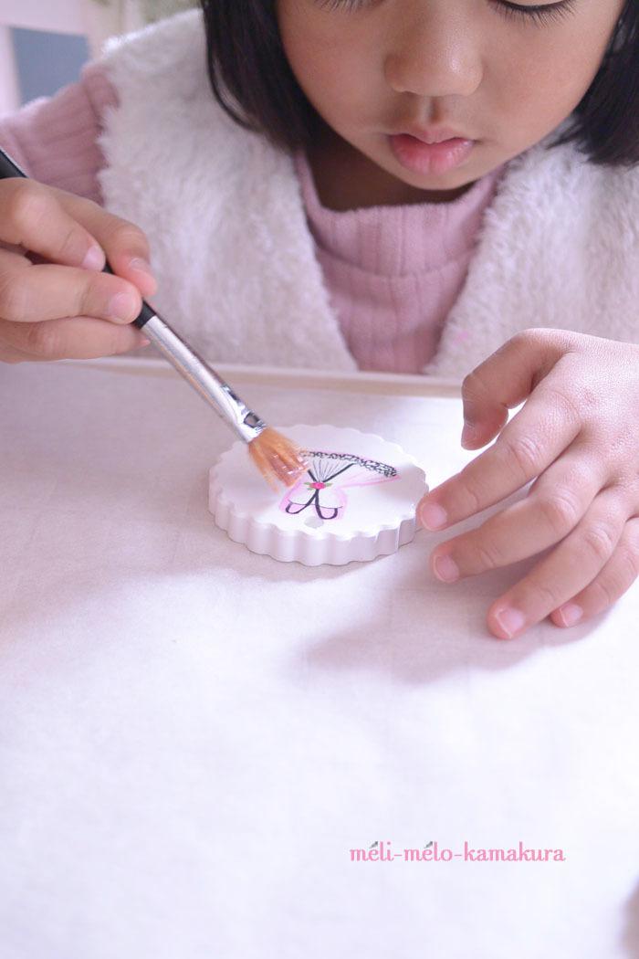 ◆デコパージュ*娘の作品♡バレエのチュチュが可愛いアロマストーン_f0251032_17462691.jpg