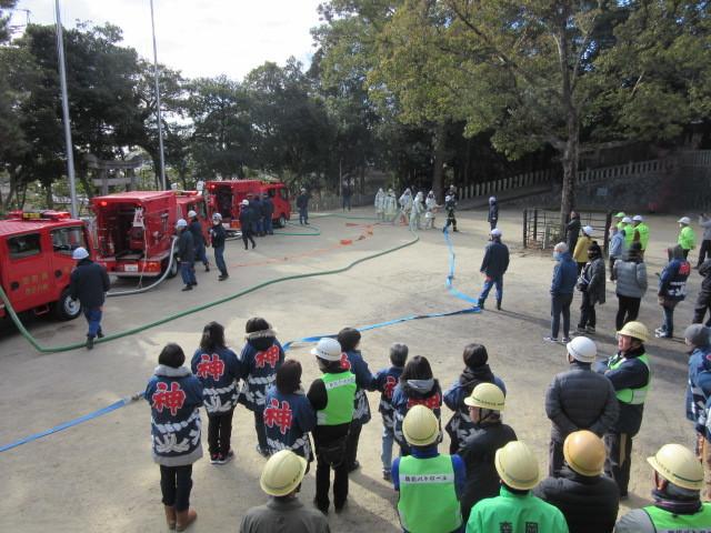 村木神社で「文化財防火訓練」_d0247833_10033111.jpg