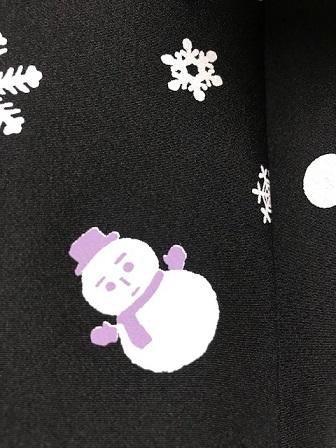 藤井絞・雪だるま羽織のお客様・鶴は雪だるま襦袢を羽裏に_f0181251_1521198.jpg