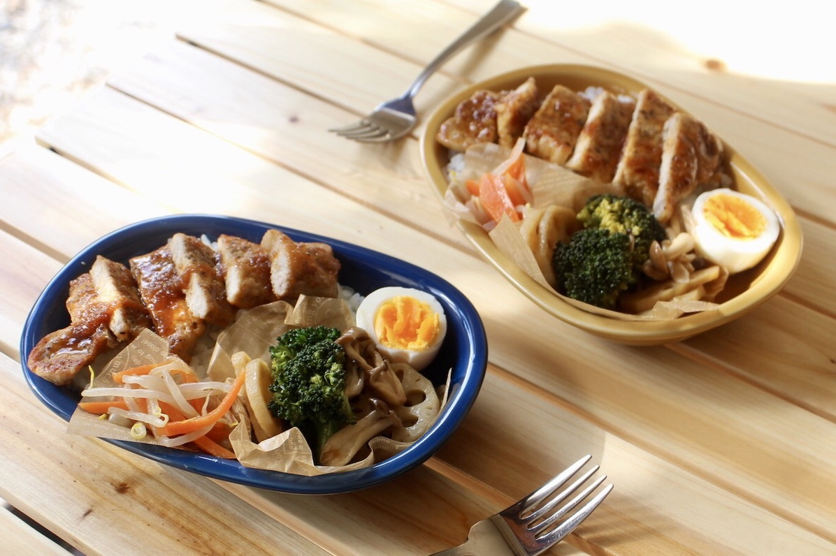 豚ロース肉の味噌 玉ねぎダレ丼弁当_f0220354_17444723.jpeg