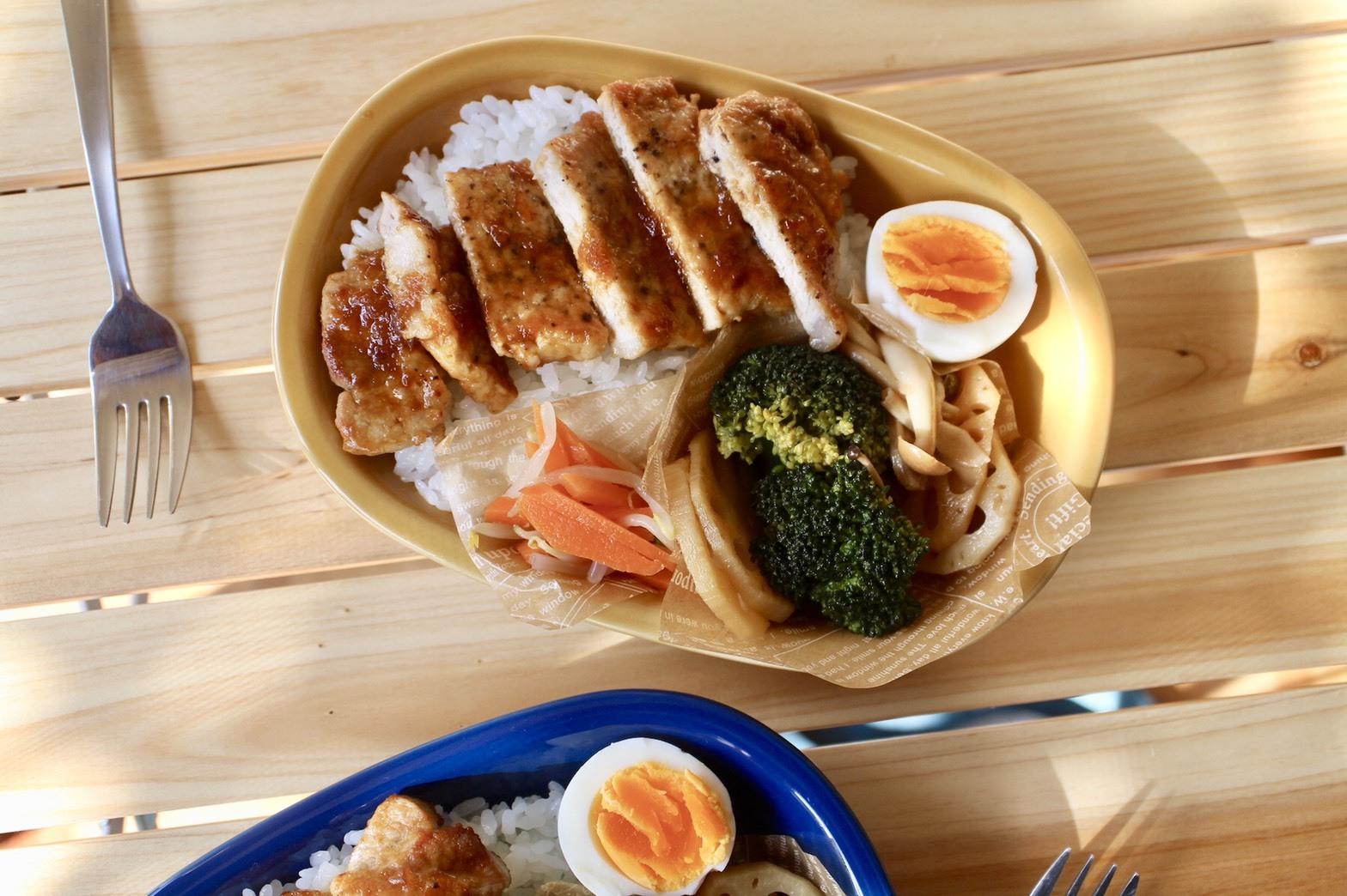 豚ロース肉の味噌 玉ねぎダレ丼弁当_f0220354_17452195.jpeg