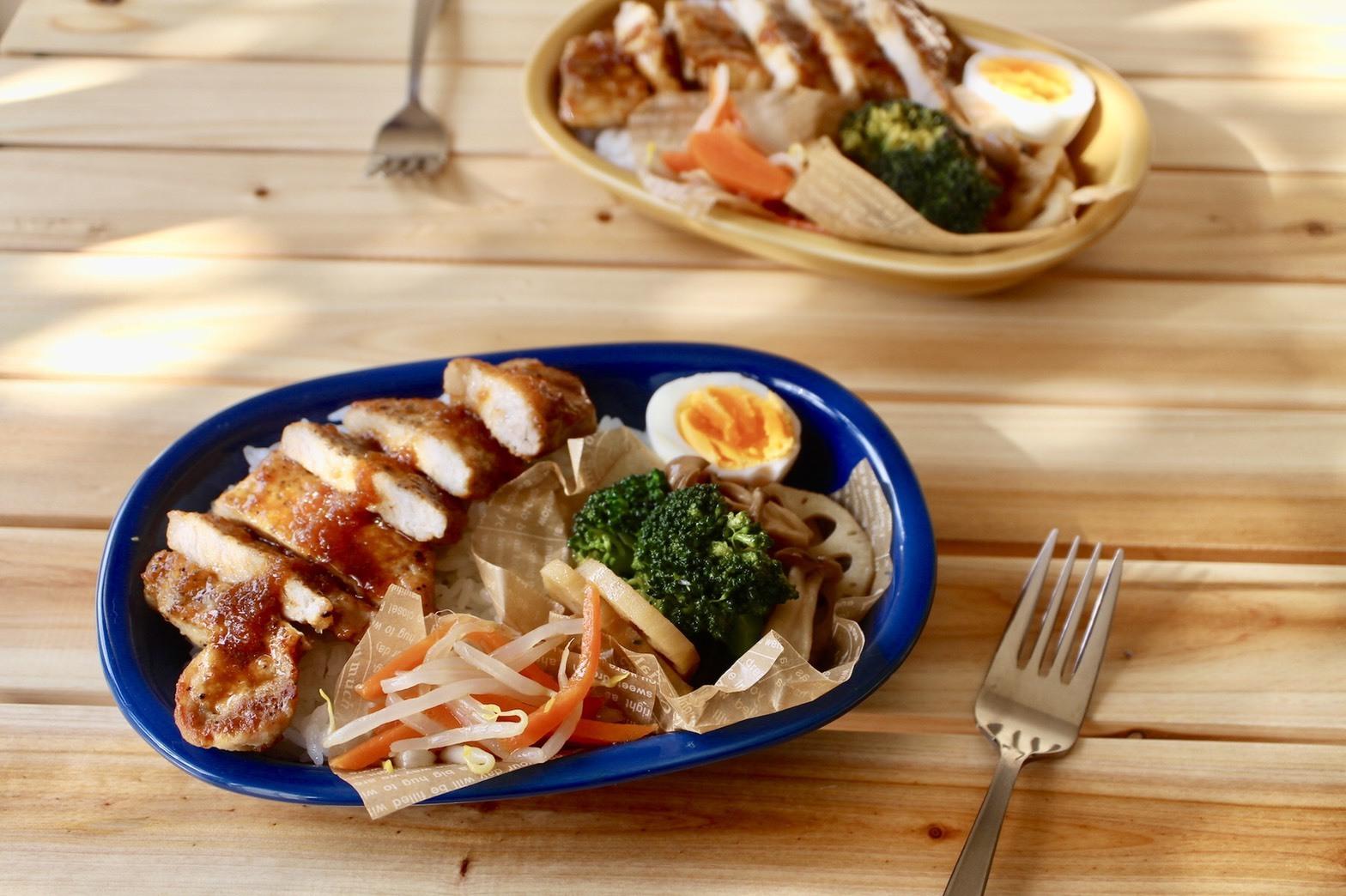 豚ロース肉の味噌 玉ねぎダレ丼弁当_f0220354_17461968.jpeg