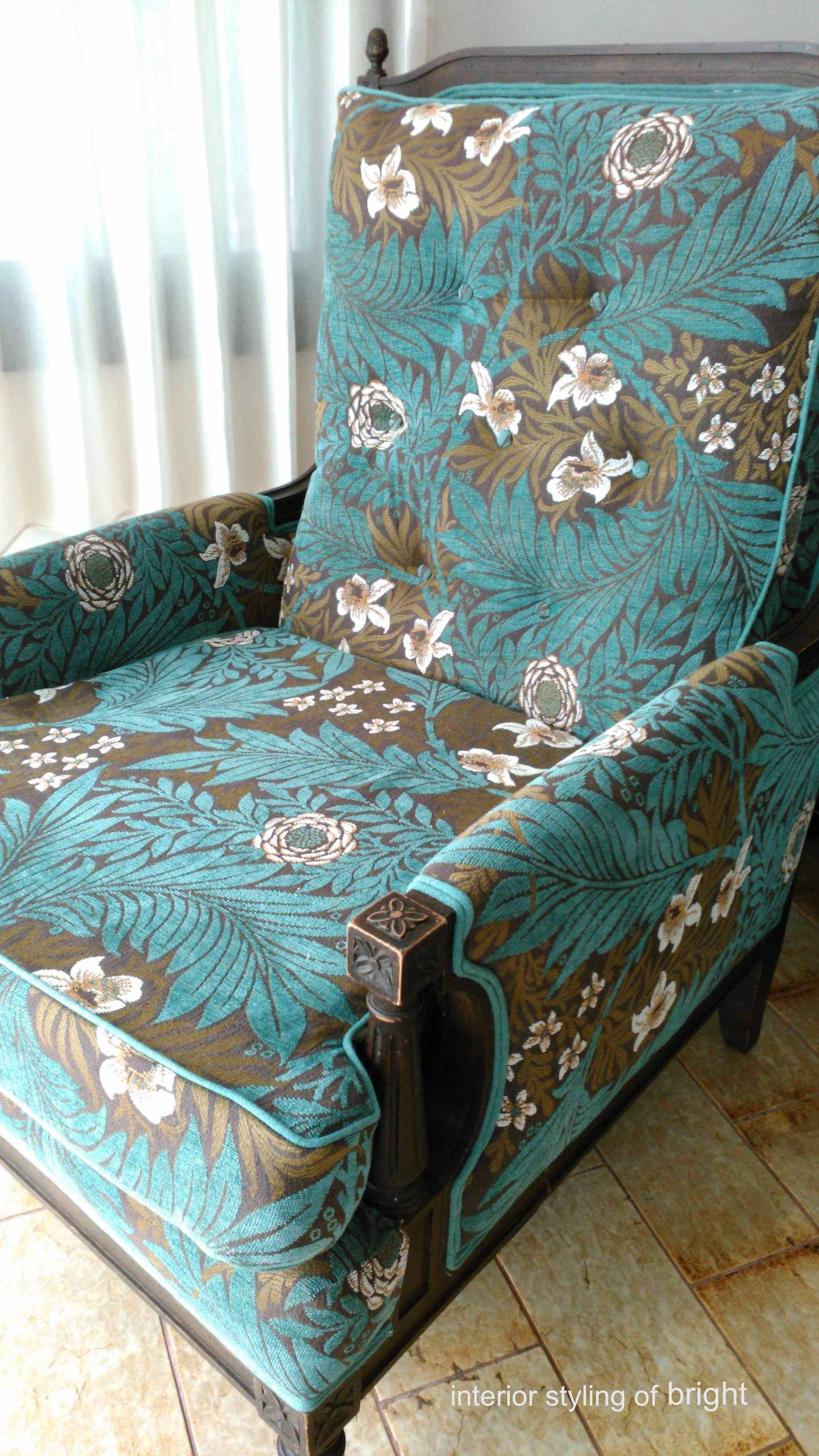 モリス 椅子張替『ラークスパー』 ウィリアムモリス正規販売店のブライト_c0157866_15062578.jpg