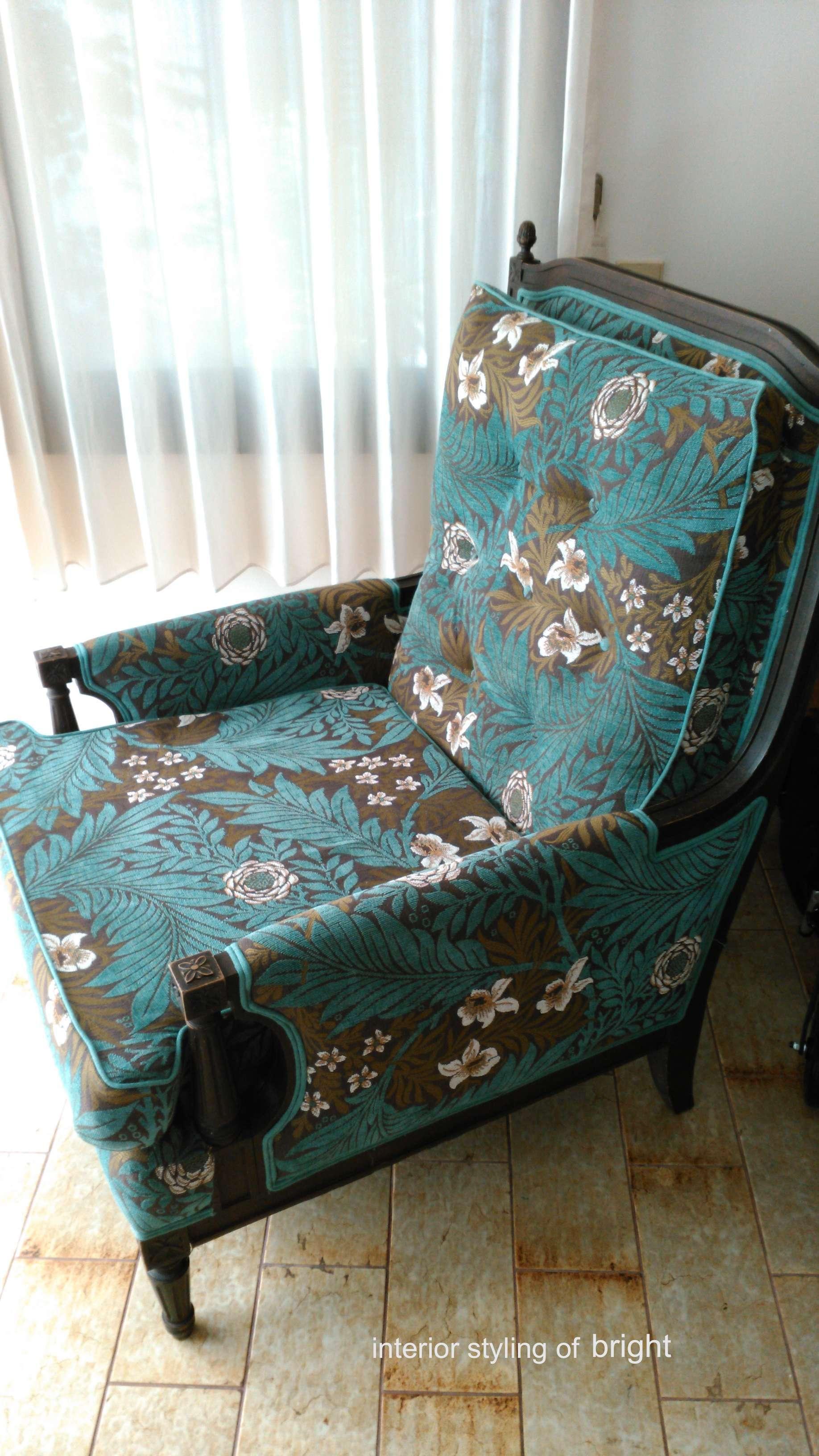 モリス 椅子張替『ラークスパー』 ウィリアムモリス正規販売店のブライト_c0157866_15063557.jpg