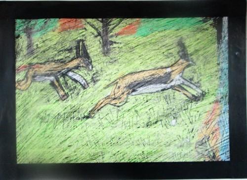 1月の描き始めは蝋画にトライ_e0167771_11585490.jpg