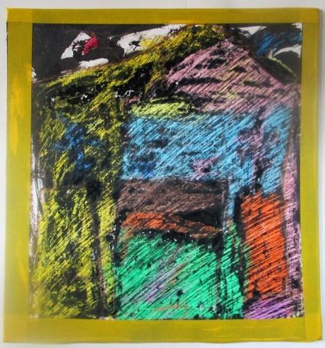 1月の描き始めは蝋画にトライ_e0167771_12035738.jpg