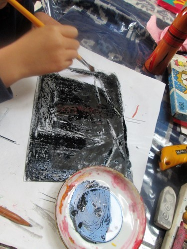 1月の描き始めは蝋画にトライ_e0167771_12165245.jpg