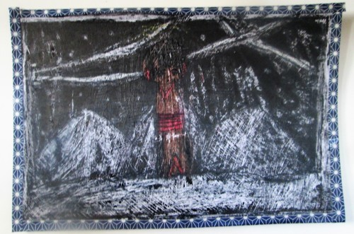 1月の描き始めは蝋画にトライ_e0167771_12180896.jpg