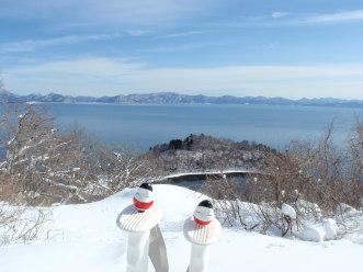 名倉山でスノーシュー_a0096989_19391748.jpg