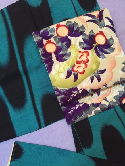 1/30より!新宿伊勢丹催事・黒緑壺垂れ・黒緑花・オレンジ薔薇・水玉着物♪販売商品41_c0321302_00162157.jpg