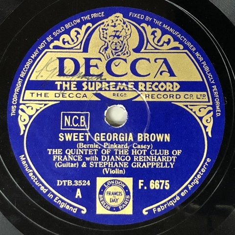 SPレコード入荷しました その9 ジャンゴ&ステファン_a0047010_15485671.jpg