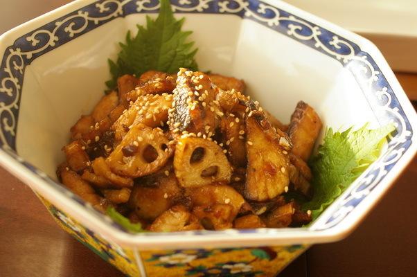 今日の夕食:鯵と蓮根のサムジャン炒め_d0327373_19214237.jpg
