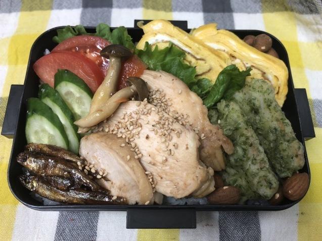 鶏胸肉ゴマだれ弁当_b0371149_07102081.jpeg