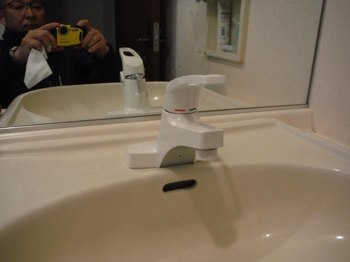 小工事 ~ 化粧洗面台の水栓取替え_d0165368_05315230.jpg