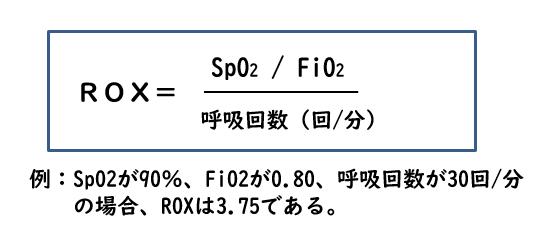 ネーザルハイフロー治療の成否を予測する指標:ROX_e0156318_9404899.png
