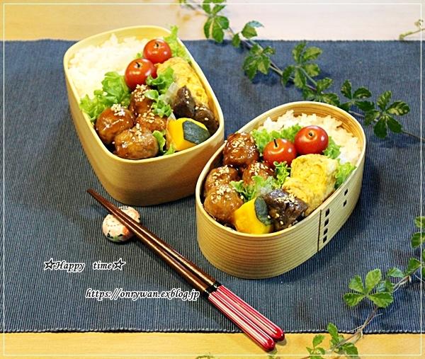 肉団子の甘酢餡弁当と今日のわんことトモサンカク♪_f0348032_17414060.jpg