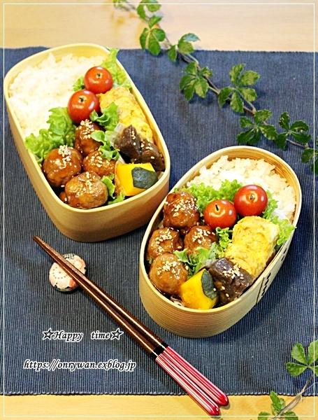 肉団子の甘酢餡弁当と今日のわんことトモサンカク♪_f0348032_17414772.jpg