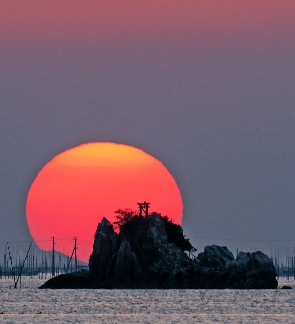 夕景 回想㉔)緑川河口の夕暮れ=熊本市南区_d0238245_21004165.jpg