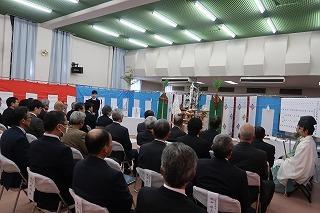 西粟倉村 つどい・くらしの拠点施設建設工事 安全祈願祭_f0151251_15145011.jpg