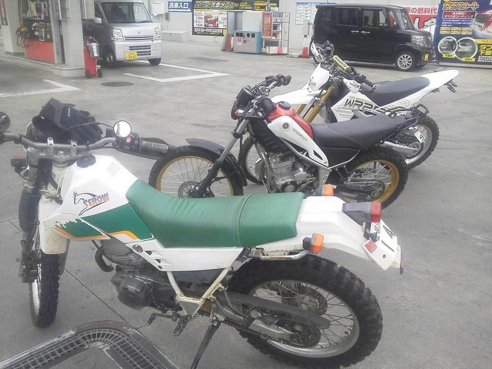 昨日はセロー225W×2台とトリッカーとWR250Rで箱根の林道へ・・・(^^♪_c0086965_03023717.jpg