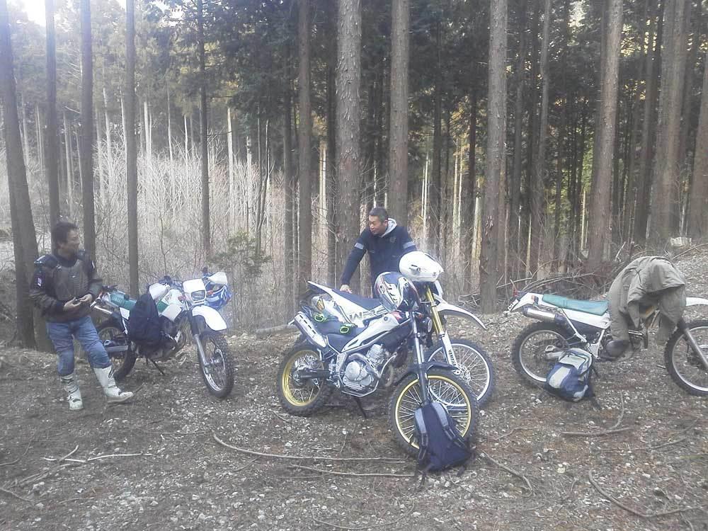 昨日はセロー225W×2台とトリッカーとWR250Rで箱根の林道へ・・・(^^♪_c0086965_03023839.jpg