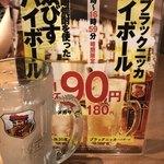 ■「90円ハイボール」「90円酎ハイ」さて軍配は?■_c0061686_11063401.jpg