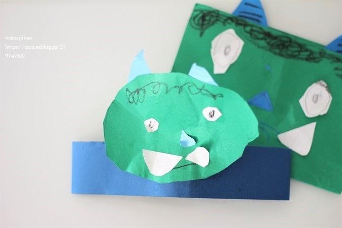 息子が作る鬼のお面と折り紙_e0214646_21004658.jpg