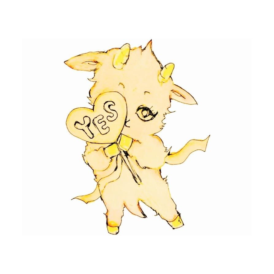 "\""sweet little goat\"" LINE スタンプ のリリースです_f0068174_20111557.jpeg"
