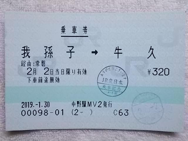 【指定券・記念品】E653系おかえり号_b0283432_22213768.jpg