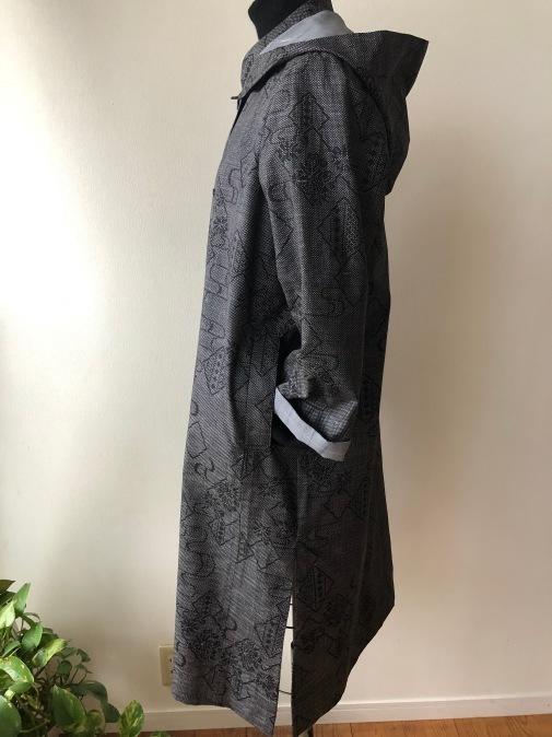 着物リメイク・大島のお着物からフードコート_d0127925_18593967.jpg