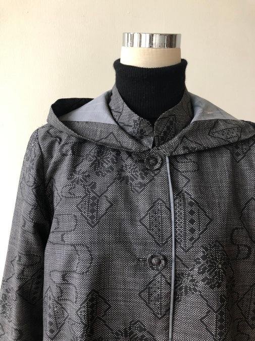 着物リメイク・大島のお着物からフードコート_d0127925_18594458.jpg