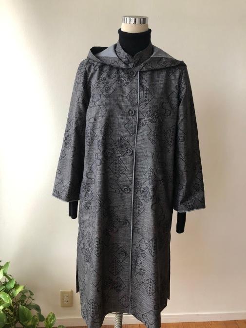 着物リメイク・大島のお着物からフードコート_d0127925_18595032.jpg