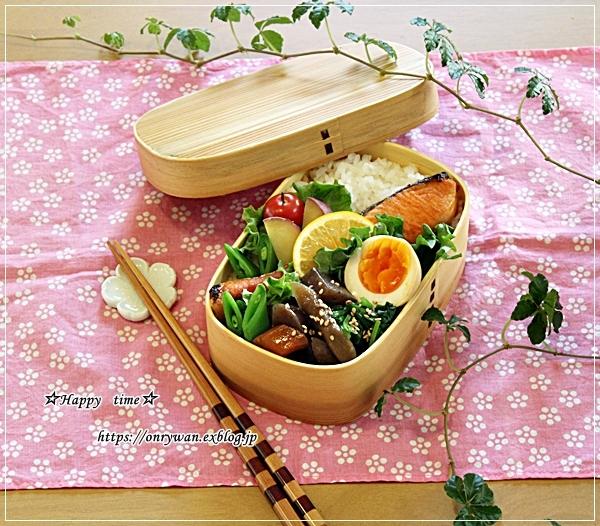 焼き鮭弁当とヨーグルト酵母でバゲット♪_f0348032_17370099.jpg