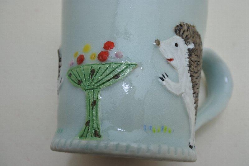 ハリネズミのマグカップ _c0204333_13483042.jpg