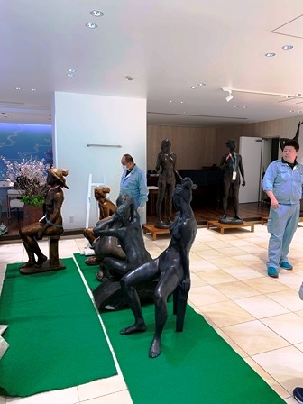 作業日誌(市村綠郎彫刻展作品展示作業ギャラリーカフェラルゴ)_c0251346_16014100.jpeg