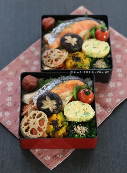 月曜鮭弁 ✿ すき焼きと太巻き(≧з≦)b_c0139375_11592611.jpg