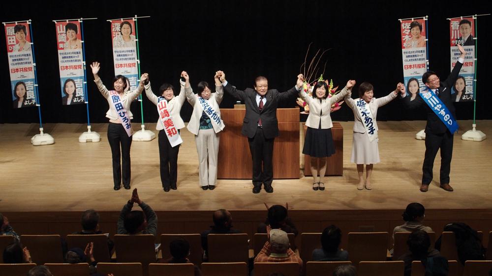 東京・清瀬市で共産党演説会_b0190576_23442357.jpg