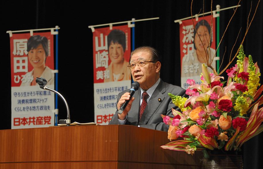 東京・清瀬市で共産党演説会_b0190576_23461010.jpg