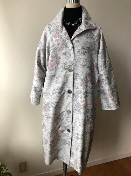 着物リメイク・大島のお着物から変わり襟コート_d0127925_17103446.jpg