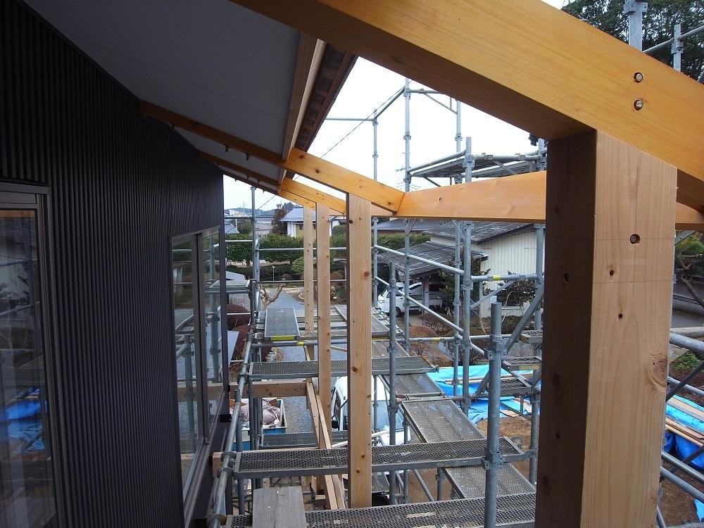 笠間の家Ⅲ 木製バルコン工事 2019/2/5_a0039934_15012042.jpg