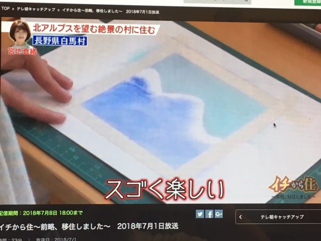 テレビ朝日でのパステルアート_f0071893_19573418.jpg