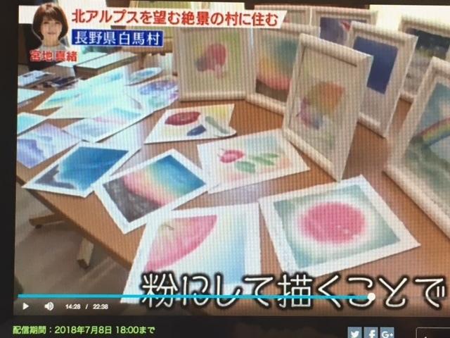 テレビ朝日でのパステルアート_f0071893_19590271.jpg