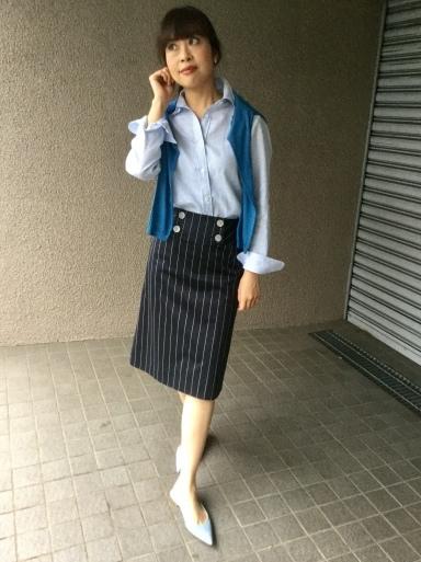 「麻シャツのブルーストライプ」…どう着る?①_b0210699_17560572.jpeg