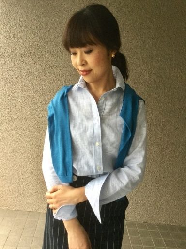 「麻シャツのブルーストライプ」…どう着る?①_b0210699_17563963.jpeg