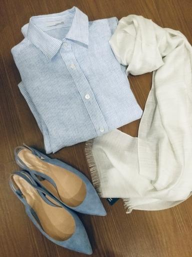 「麻シャツのブルーストライプ」…どう着る?①_b0210699_18244765.jpeg