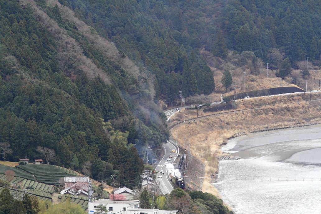 塩郷の吊橋をくぐる白煙 - 2018年・大井川 -_b0190710_23360580.jpg