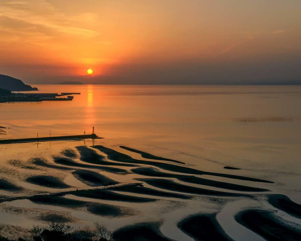 ✔ 干潟の砂模様=熊本県:御輿来海岸_d0238245_15545557.jpg
