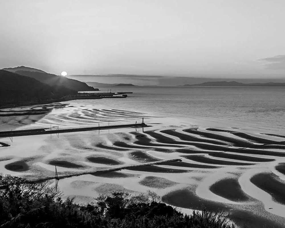 ✔ 干潟の砂模様=熊本県:御輿来海岸_d0238245_20123772.jpg